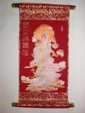Красное китайское панно
